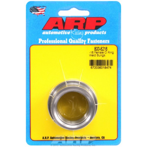 ARP -16 female O ring steel weld bung